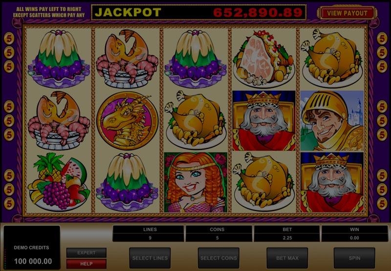 Captura de pantalla de King cashalot tragaperras de Microgaming