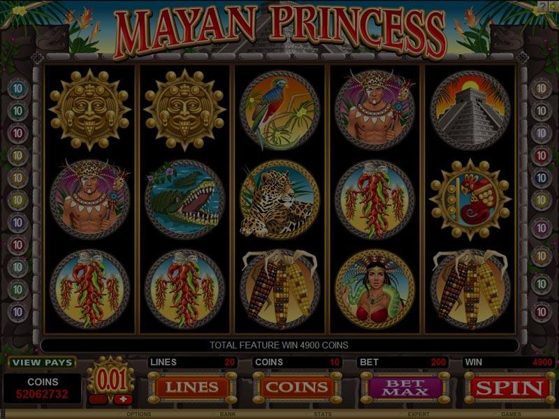 Captura de pantalla de Mayan Princess tragaperras de Microgaming