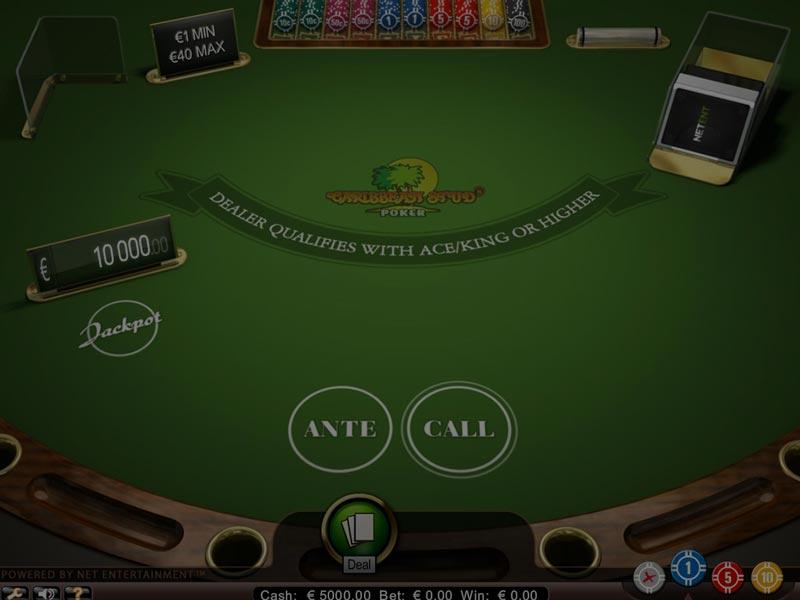 Captura de pantalla de Caribbean Stud Poker  de NetEnt