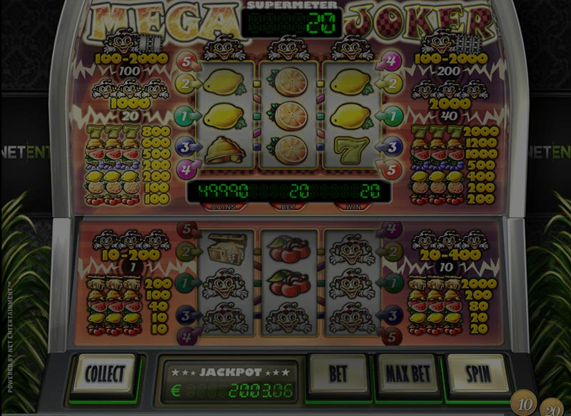 Captura de pantalla de Mega Joker tragaperras de NetEnt