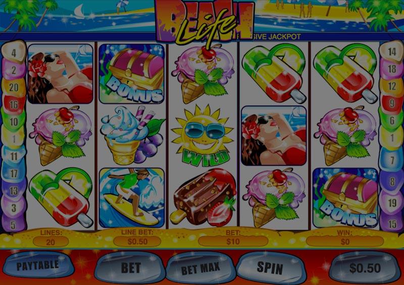Captura de pantalla de Beach Life tragaperras de Playtech