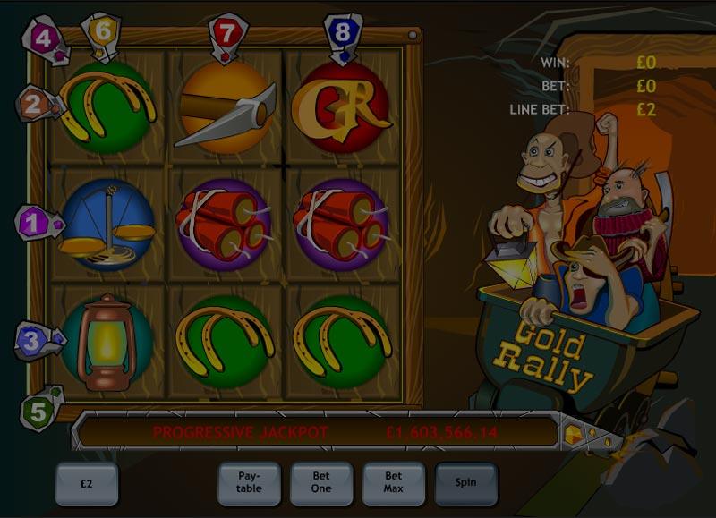 Captura de pantalla de Gold Rally tragaperras de Playtech