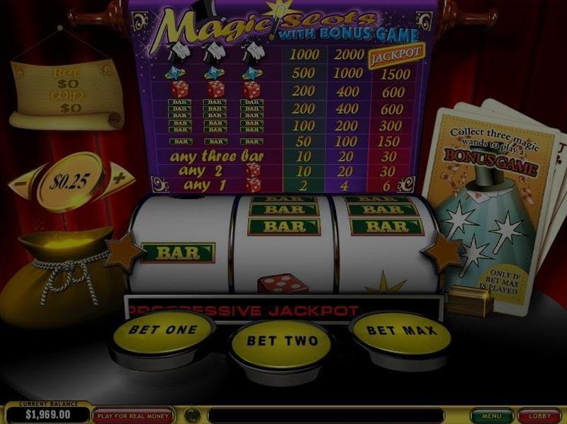 Captura de pantalla de Magic Slots tragaperras de Playtech