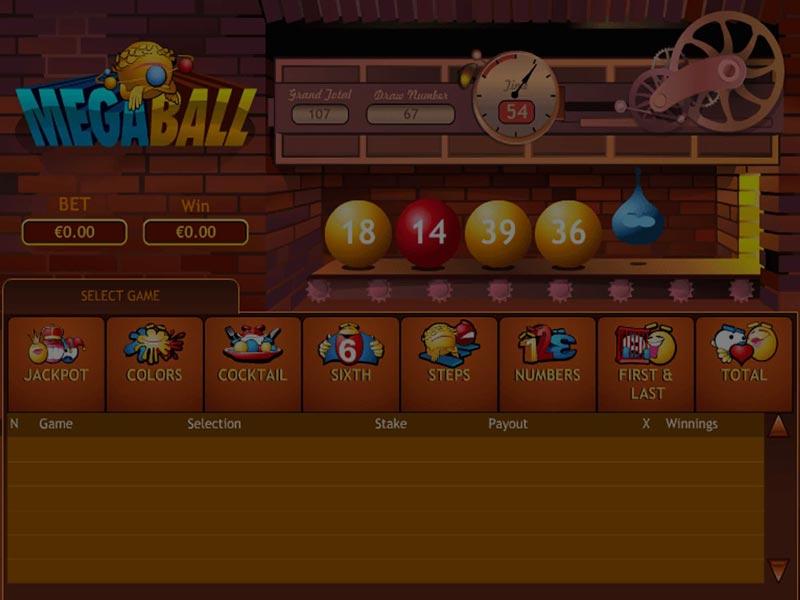 Captura de pantalla de Mega Ball tragaperras de Playtech