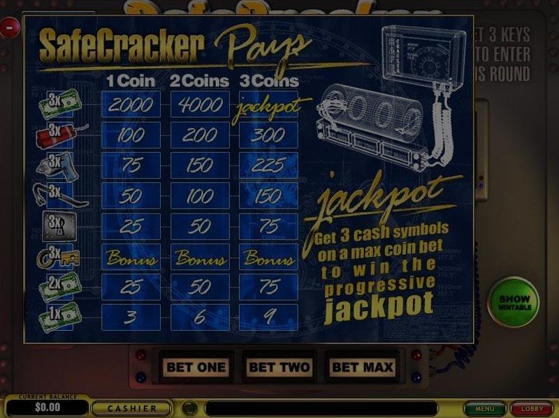 Captura de pantalla de Safecracker tragaperras de Playtech