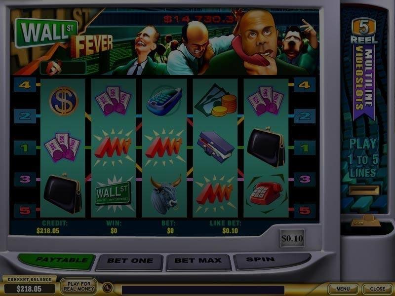 Captura de pantalla de Wall Street Fever tragaperras de Playtech