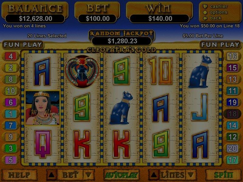 Captura de pantalla de Cleopatra's Gold tragaperras de RTG