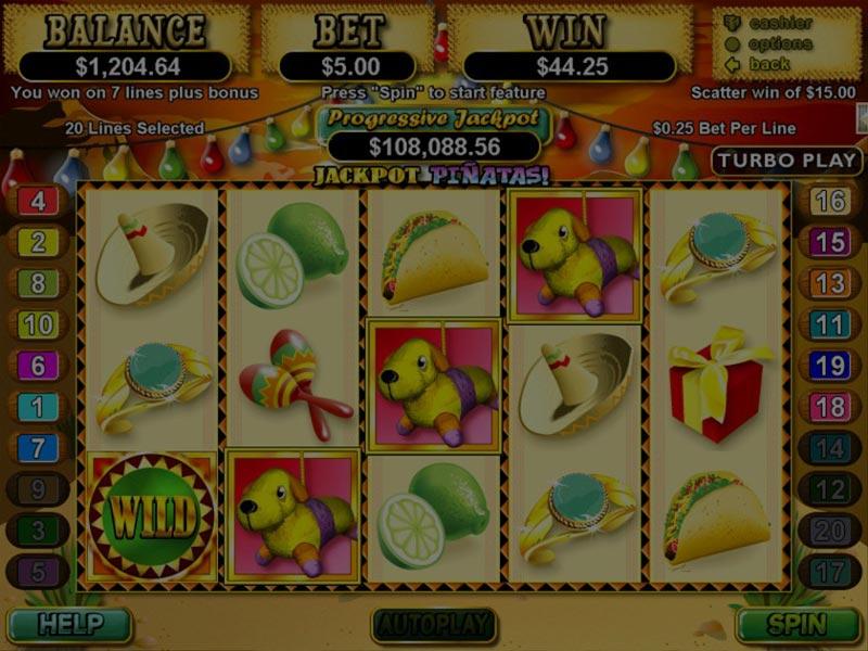 Captura de pantalla de Jackpot Piñata tragaperras de RTG