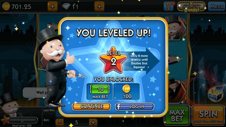 """Algunas slots nuevas tienen una función denominada """"level up"""""""