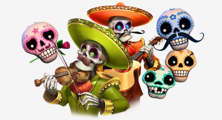 Imagen de los personajes de la tragamonedas Thunderkick Esqueleto Explosivo