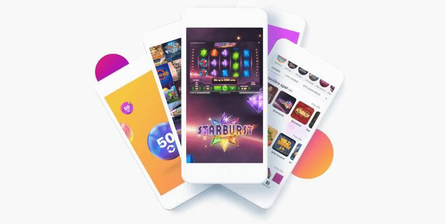 Una imagen de moviles con juegos de slots